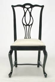 Chinese Chippendale Dining Chairs 1st Dibs Italian Black Lacquer Chinese Chippendale Dining Chair