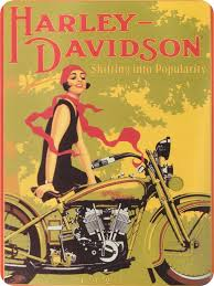 Harley Davidson Home Decor by Chiroladas Retro Stuff Wall Sign Harley Davidson Classic 1927