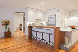 cuisiner un bar bar de cuisine cuisine bois moderne meubles rangement
