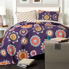 Blue Quilted Coverlet Best Paisley Quilted Bedspreads Products On Wanelo