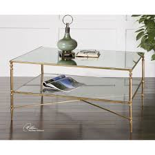 gold glass coffee table furniture uttermost gold henzler coffee table on sale