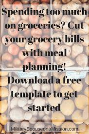 slash your grocery budget with meal planning military spouse on