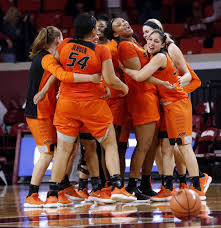 Kaylee jensen 39 s double double leads oklahoma state women to