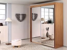 Sliding Door Bedroom Furniture Mirror Design Ideas Brown Wood Mirror Sliding Door Wardrobes