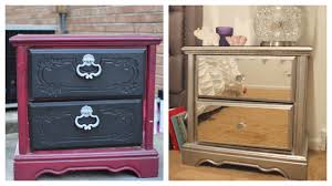 How To Make A Mirrored Nightstand Diy Diy Mirror Nightstand 4 Dresser Revamp Ikea Rant
