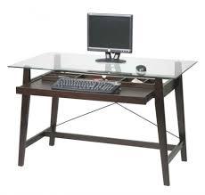minimalist cheap computer desk black finish wood construction