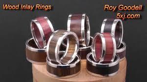 wooden metal rings images Wood inlay rings jpg
