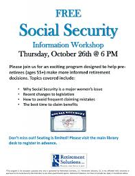 social security help desk sand lake town library blog archive free social security info