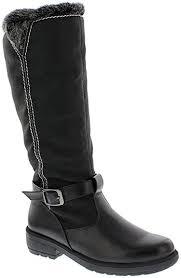 womens boots size 9 wide calf amazon com boston accent s patty boots black