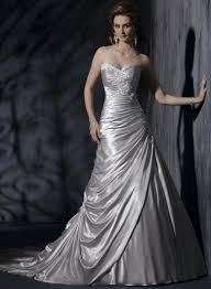 silver wedding dresses silver brides silver wedding gown embellished lace wedding