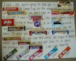Birthday Card With Bars Candy Gram For Daddy S Pinterest Candy Grams Basket Ideas