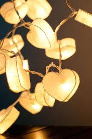 led lantern string lights 20 battery powered led romantic white heart paper lantern string