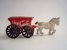 coca cola horse u0026 wagon cast iron coca cola vintage