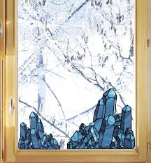See Through Window Graphics Clr Wnd Stained Glass Style Crystals See Through Vinyl Window