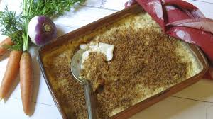 root vegetable gratin makes a tasty thanksgiving side dish