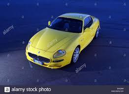 yellow maserati car maserati gransport v8 model year 2004 yellow roadster