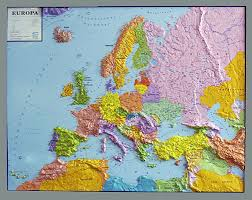 map of euorpe relief map europe world map withelevation profile
