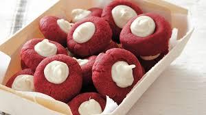 red velvet thumbprints recipe bettycrocker com