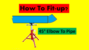 how to fit up pipe to 45 deg elbow youtube