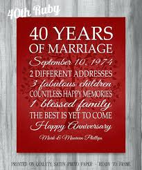 anniversary gift for parents ruby wedding anniversary gifts for parents th gift ideas australia
