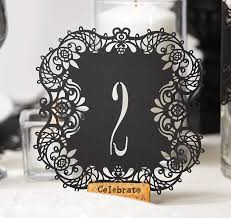 what size are table number cards laser cut black table numbers black table numbers