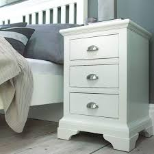White Bedside Table Bentley Designs Hstead White 3 Drawer Bedside Table Furniture123