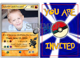 pokemon birthday party invitation sample with freebies from