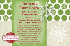 upcoming events butterfly beauties u0027christmas paper crafts u0027