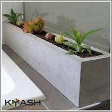 polished concrete planter large rectangular 900mm succulent or