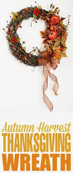 autumn harvest thanksgiving wreath frugal eh