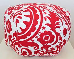 Coral Ottoman Coral Pouf Ottoman Etsy