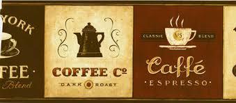 wallpaper borders coffee cups supreme blend coffee wallpaper border eb8900b wallpaper border