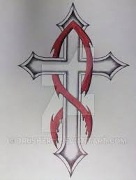 cross jesus fish tattoo by drusher11 on deviantart