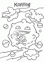 pokemon koffing coloring pages for kids pokemon characters