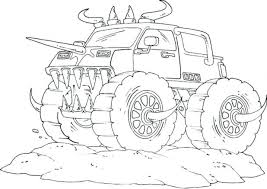 monster truck coloring page free printable kids pages monster