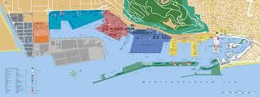 Sky Harbor Terminal Map Barcelona Port Tourist Map Barcelona U2022 Mappery Harbor