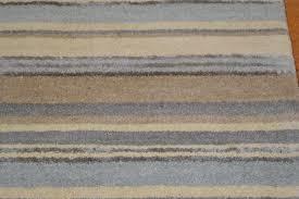 Grey Striped Rug Stripes Luxury Wool Runner Blue Grey Cream Rug Martin