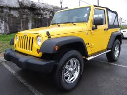 wrangler jeep 2009 sold 2009 jeep wrangler x 4x4 2 door soft top yellow 3 6 25k at