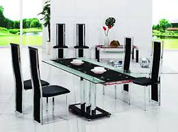 chrome dining room sets pavia extending glass chrome dining room table 6 chairs set