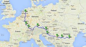 trip map twelve countries nine days 350 european road trip volume one