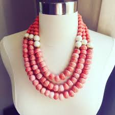 large red bead necklace images Willa ford designs large coral bead necklace JPG