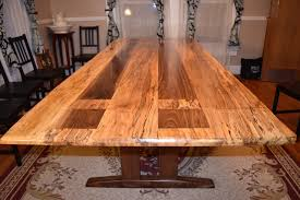 logan s live edge spalted maple dining table the wood whisperer logan s live edge spalted maple dining table