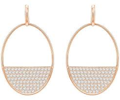 white earrings pierced earrings white gold plating jewelry