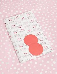 Cat Wrapping Paper Pink Polka Cat Wrapping Paper M S