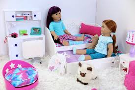 Trundle Bed For Girls American Doll Trundle Bed U0026 Bedding Set New Youtube
