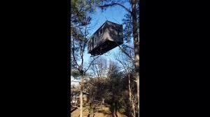 tiny house crane lift airbnb youtube