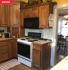 are brown kitchen cabinets outdated teal kitchen redo apartment therapy