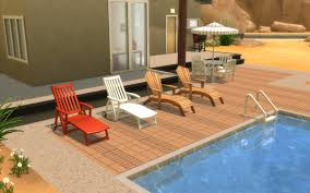 Poolside Chair Mod The Sims Ts2 To Ts4 Poolside Loungechairs