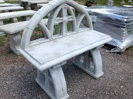 concrete tables and benches