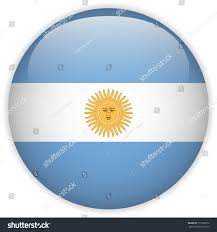 vector argentina flag glossy button stock vector 111699212